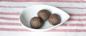 Bombones macrobiotica azukis con castañas