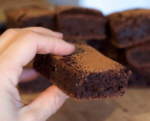 Brownie de azukis sin azucar