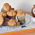 Muffins veganos rellenos de mermelada sin azúcar