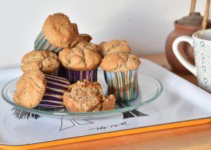 Muffins veganos sin azúcar
