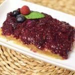 Pastel de crema pastelera y frutos rojos sin gluten