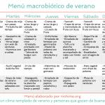 Menú macrobiótico de verano