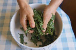 Ensalada prensada kale
