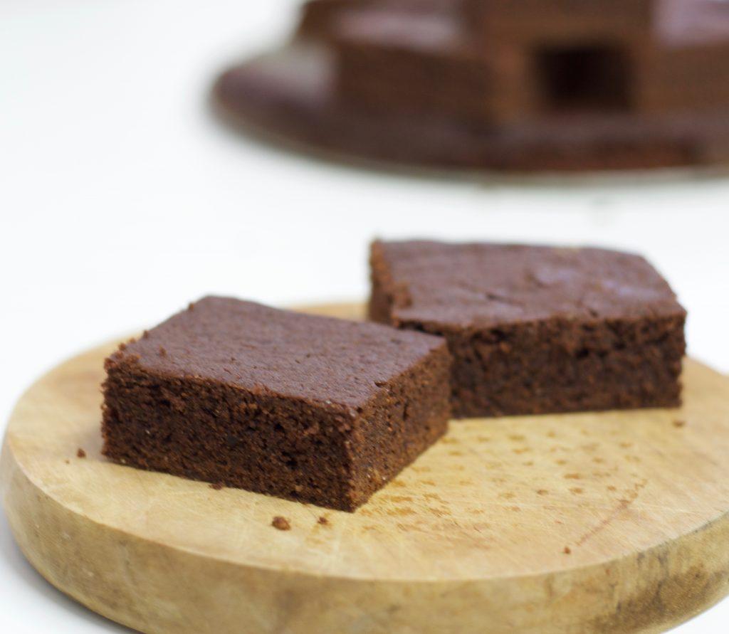 Brownie vegano sin azúcar