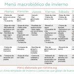 Menú macrobiótico de invierno para descargar